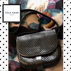 Cole Haan Woven leather Crossbody Bag